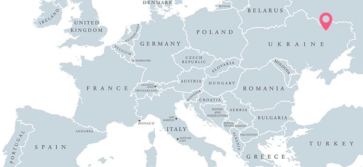 NIX Solutions Ltd Office Kharkiv Ukraine - Austria location in europe