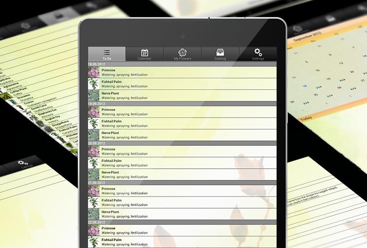 uFlowers - Android tab