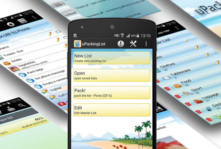 uPackingList - Android phone
