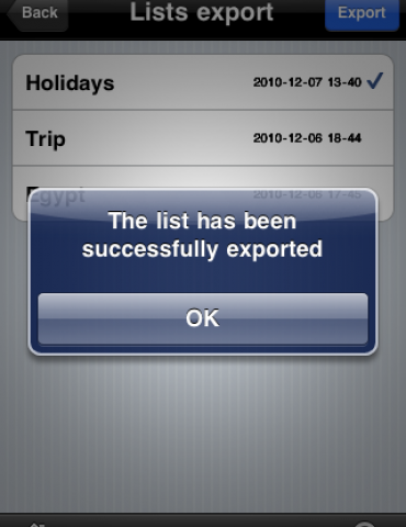 Packing List App (To-Do's) for iPhone, iPad and for Travel